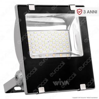 Wiva Faretto LED SMD 30W Ultra Sottile Colore Nero 12-24V DC