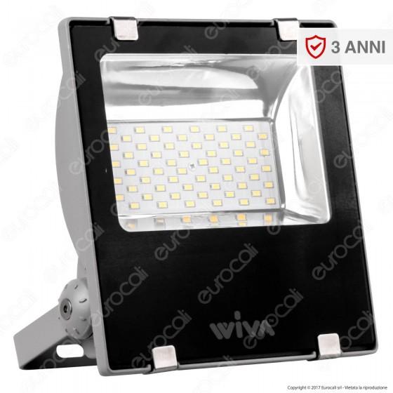 Wiva Faretto LED SMD 100W Colore Nero 12-24V DC