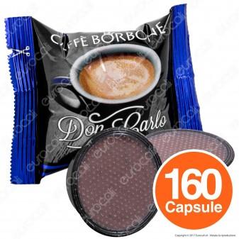 160 Capsule Caffè Borbone Don Carlo Miscela Blu - Cialde Compatibili Lavazza A Modo Mio