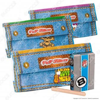 Pop Filters Porta Busta di Tabacco con Porta Filtri e Pressa Tabacco