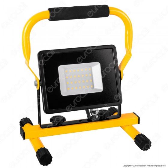 V-Tac VT-4230 Faro LED SMD 30W Portatile con Staffa e Cavo di Alimentazione Schuko - SKU 5927