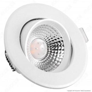 V-Tac VT-1100 RD Faretto LED da Incasso Rotondo 5W SMD - SKU 7329 / 7330 / 7331