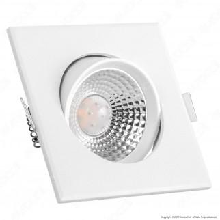 V-Tac VT-1100 SQ Faretto LED da Incasso Quadrato 5W SMD - SKU 7332 / 7333 / 7334
