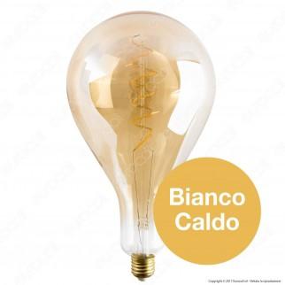 Girard Sudron Lampadina LED E27 6W Big Bulb Filamento Ambrata Dimmerabile