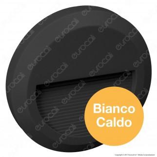 V-Tac VT-1142 Faretto Segnapasso LED a Montaggio Superficiale Rotondo 2W per Esterno Colore Bianco - SKU 1317 / 1316