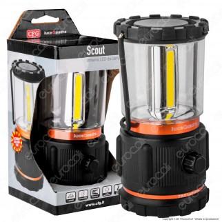 CFG Scout Lanterna LED COB da Campeggio con Luce Dimmerabile