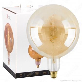 Girard Sudron Lampadina LED E27 6W Big Globo G200 Filamento Ambrata Dimmerabile