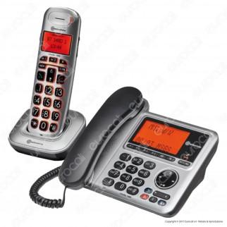 Amplicomms BigTel 1480 Telefono Fisso con Segreteria e Cordless per Portatori di Apparecchi Acustici