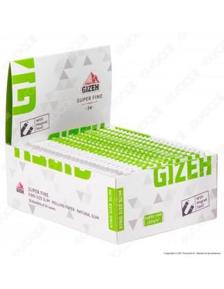 Cartine Gizeh Super Fine King Size Slim Lunghe Libretto Magnetico - Scatola da 50 Libretti