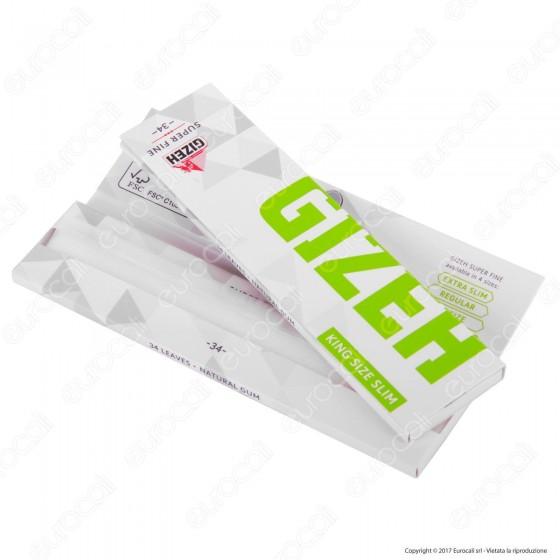 Cartine Gizeh Super Fine King Size Slim Lunghe Libretto Magnetico - Libretto