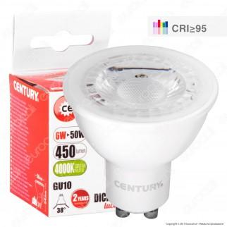 Century Dicro Shop 95 Lampadina LED GU10 6W Faretto Spotlight CRI ≥95 Dimmerabile