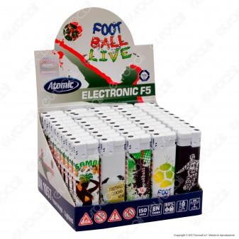 Atomic Electronic F5 Accendino Maxi Elettronico Ricaricabile - Box da 50 Accendini
