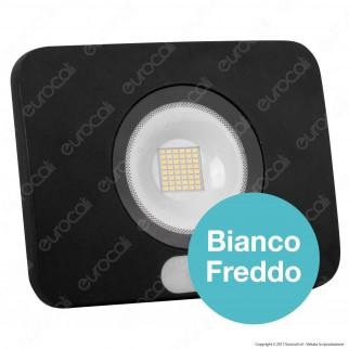 Led Factory Italia Faro LED 50W Ultra Sottile con Sensore Colore Nero