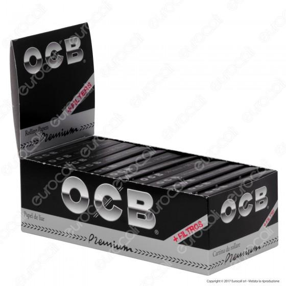 OCB Pack Cartine Corte Nere Premium e Filtri in Carta - Scatola da 24 Libretti