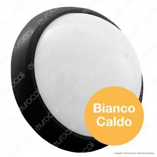 V-Tac VT-8015 Plafoniera LED 12W Forma Circolare Colore Nero - SKU 1349 / 5052 / 5051