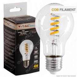 V-Tac VT-2164 Lampadina LED E27 4W Bulb A60 Filamento COB - SKU 7336