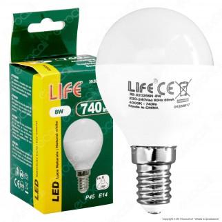 Life Lampadina LED E14 8W MiniGlobo P45