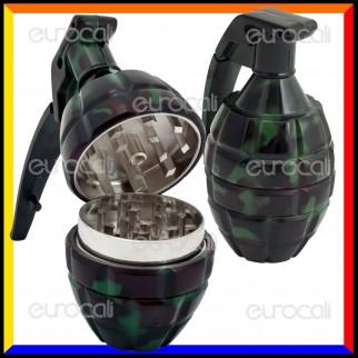Grinder Tritatabacco 3 Parti in Metallo - Bomba a Mano