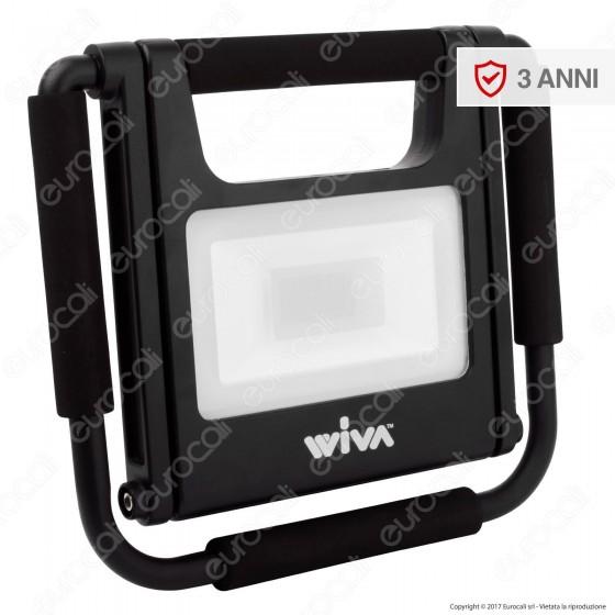Wiva Faro LED SMD 20W mod. Flex Portatile e Ricaricabile con Staffa e Cavo di Alimentazione