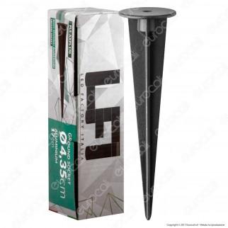 Led Factory Italia Picchetto 17cm in Alluminio per Fari Led Factory Italia 10-20W