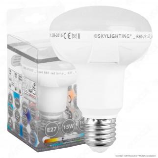 SkyLighting Lampadina LED E27 15W Bulb Reflector Spot R80 - mod. R80-2715C / R80-2715D