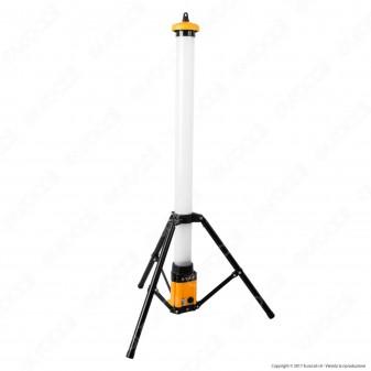 Velamp Stak Tripod Light Luce LED SMD 36W Portatile e Ricaricabile con Staffa e Cavo di Alimentazione