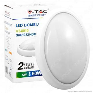 V-Tac VT-8010 Plafoniera LED 12W Forma Ovale Colore Bianco - SKU 1351 / 1352 / 1353