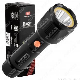 CFG Ranger EL038 Torcia LED COB+CREE 3W in Alluminio