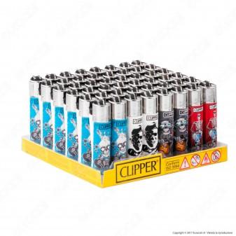 Clipper Micro Fantasia Skulls 5 - Box da 48 Accendini