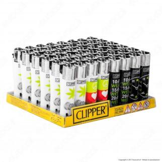 Clipper Large Fantasia Love and Weed - Box da 48 Accendini