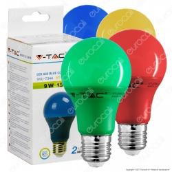 V-Tac VT-2000 Lampadina LED E27 9W Bulb A60 Colorata - SKU 7341 / 7342 / 7343 / 7344 [TERMINATO]