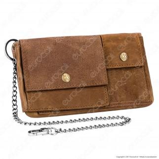 Original Kavatza Tobacco Wallet Tabba Small TWS03 Portatabacco Portafoglio in Vera Pelle