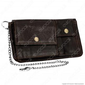 Original Kavatza Tobacco Wallet Havana Small TWS17 Portatabacco Portafoglio in Vera Pelle