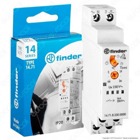 Finder Serie 14 Temporizzatore Modulare Unipolare Luci Scale 16A - mod. 14.71.8.230.0000