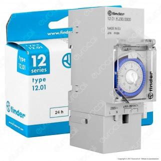Finder Serie 12 Interruttore Giornaliero Orario Elettromecanico 16A mod. 12.01