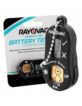 Rayovac Tester + Portabatterie Per Pile Apparecchi Acustici