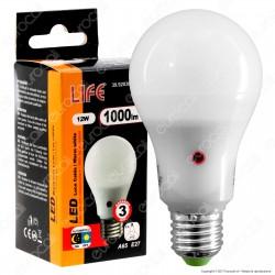 Life Serie GF Lampadina LED E27 12W Bulb A60 con Sensore Crepuscolare