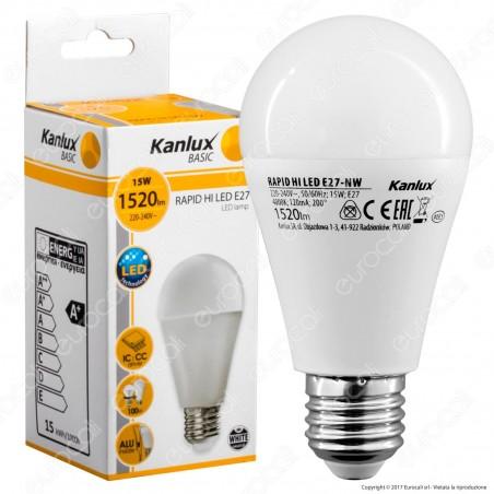 Kanlux RAPID Lampadina LED E27 15W Bulb A60 - mod.25400 / 25401