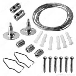 V-Tac Kit per Montaggio a Sospensione per Tubi e Plafoniere LED Lineari - SKU 8119