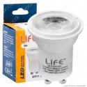 Life Lampadina LED GU10 3W Faretto MR11 Spotlight 48° - mod. 39.915015C / 39.915015N