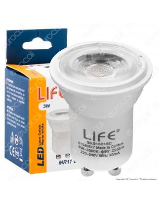 Life Lampadina LED GU10 3W Faretto MR11 Spotlight