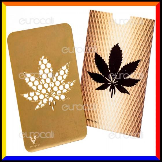 Grinder Card Formato Tessera Tritatabacco in Metallo - Gold Leaf