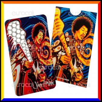 Grinder Card Formato Tessera Tritatabacco in Metallo - Jimi Hendrix Psychadelic Vibes