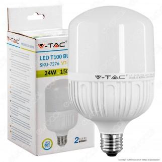 V-Tac VT-2125 Lampadina LED E27 24W Bulb T100 - SKU 7275 / 7276 / 7277