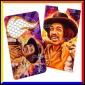 Grinder Card Formato Tessera Tritatabacco in Metallo - Jimi Hendrix Electric Flames [TERMINATO]
