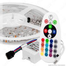 V-Tac VT-5050 Kit con Striscia LED 5050 Multicolore RGB 5mt Controller e Alimentatore - SKU 2544