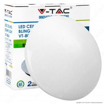 V-Tac VT-8061 Plafoniera LED 8W Forma Circolare Effetto Cielo Stellato - SKU 1370 / 1371 / 1372