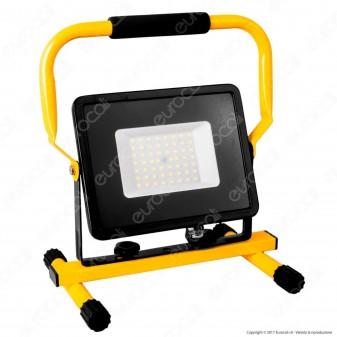 V-Tac VT-4250 Faro LED SMD 50W Portatile con Staffa e Cavo di Alimentazione Schuko - SKU 5929 / 5930