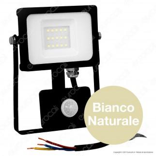V-Tac VT-4911 Faretto LED 10W Ultra Sottile Slim con Sensore Colore Nero - SKU 5783 / 5784 / 5785