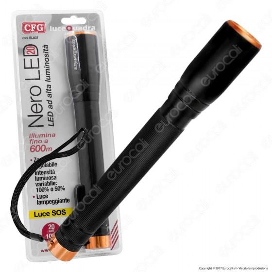 CFG EL037 Torcia LED 20W in Alluminio a Batterie
